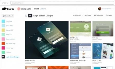 Сервис для создания коллекций с полезной информацией - Blimp Boards