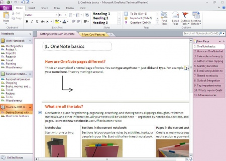 Microsoft Onenote Preview