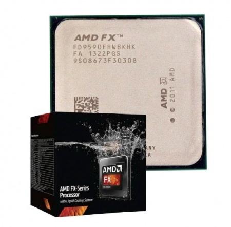 Процессор AMD FX-9590 с водяным охлаждением