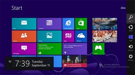 В Windows 9  уберут панель Charms