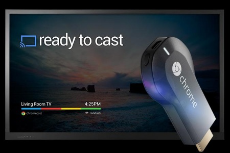 Chromecast подключается к телевизору через HDMI