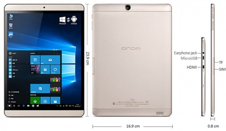 Onda V919 3G Air (Windows 10 + Android)