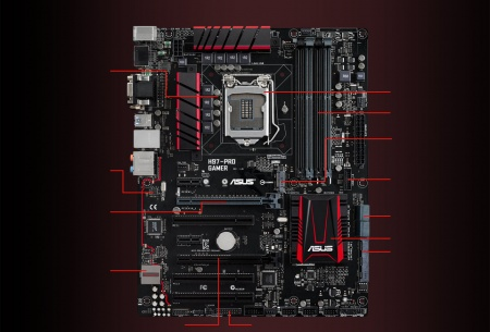 ASUS H97-Pro Gamer  front