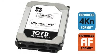 Western Digital 10 ТБ на гелии